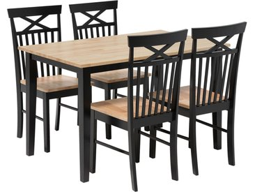 Ensemble table et chaises moderne en bois pour 4 personnes