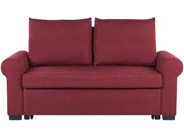 Canapé-lit 2 places rouge bordeaux au style traditionnel et rétro