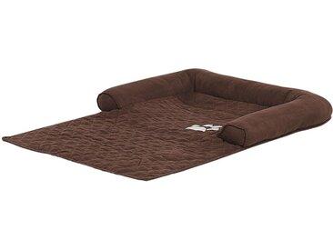 Protège-canapé et lit pour chien ou chat 2 en 1 marron