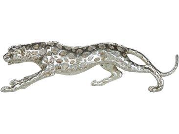 Figurine décorative argentée en forme de léopard