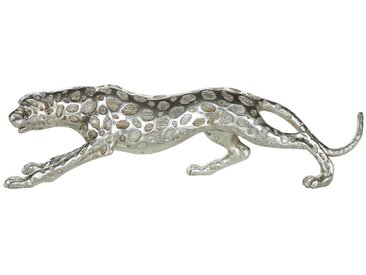 Figurine décorative argentée LEOPARD