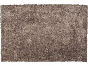Tapis à poil long ultra doux 200 x 300 cm marron clair