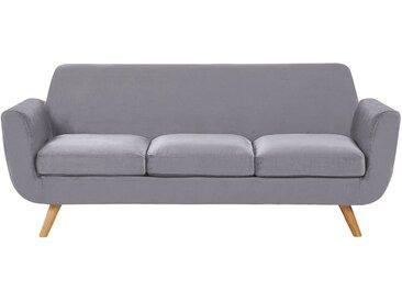 Canapé 3 places au style rétro scandinave avec housse amovible