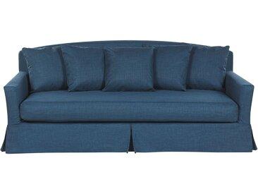 Canapé 3 places bleu marine rembourré avec housse amovible