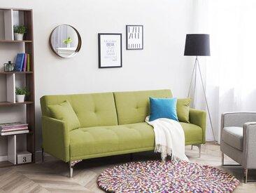 Canapé-lit clic-clac en tissu vert