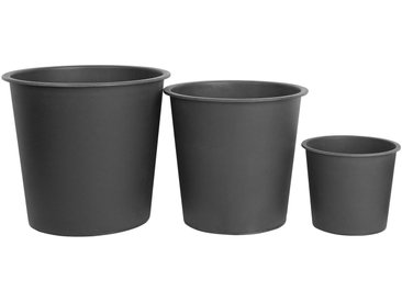 Set de 3 pots de fleur ronds