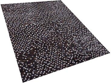 Tapis rectangulaire en peau de vache patchwork 160 x 230 cm