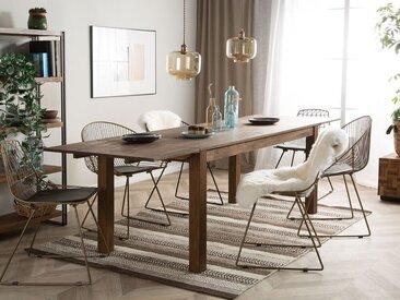 Table de cuisine en bois massif avec rallonges