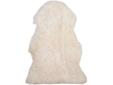 Tapis en peau de mouton authentique blanche style rustique