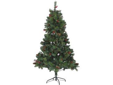 Sapin de Noël artificiel avec lumières LED intégrées et branches ajustables