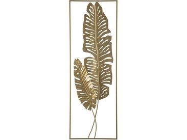 Décoration murale dorée à motif botanique