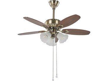Ventilateur de plafond au style rétro avec 3 lampes intégrées