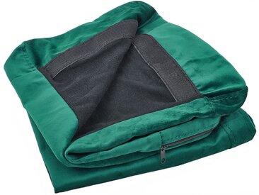 Housse amovible en velours vert pour canapé 3 places