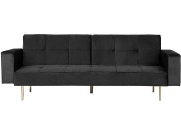 Canapé-lit clic clac en velours noir