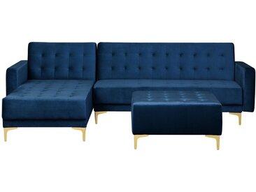 Canapé d'angle moderne avec pouf ottoman inclus
