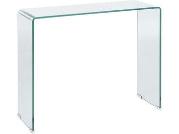 Table console minimaliste entièrement en verre