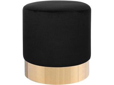 Pouf noir de style glamour