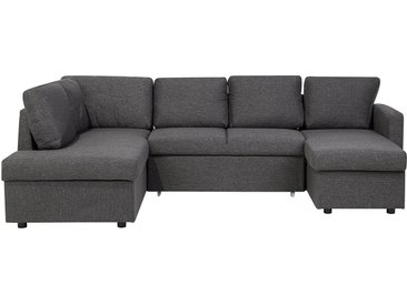 Grand canapé gris foncé KARRABO