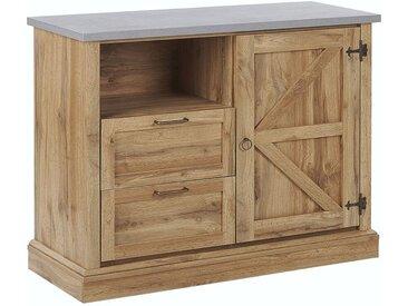 Commode au style traditionnel avec deux tiroirs et une porte