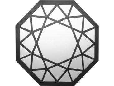 Miroir mural octogonal noir au style épuré