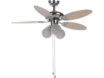 Ventilateur de plafond au style glamour avec lampes intégrées