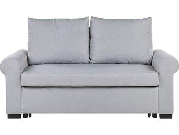 Canapé-lit 2 places gris clair au style traditionnel et rétro