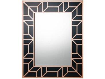 Miroir moderne 80 x 100 cm noir et cuivré