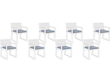 Lot de coussins d'assise bleus
