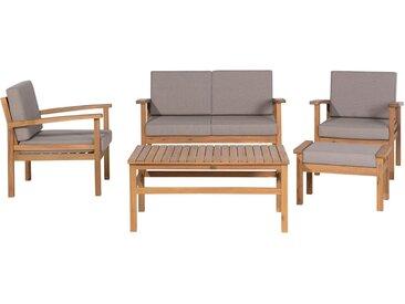 Salon de terrasse élégant en bois d'acacia