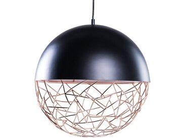 Lampe suspention en métal noir PADMA
