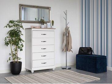 Commode blanche spacieuse et élégante