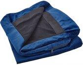 Housse amovible en velours bleu marine pour fauteuil de salon