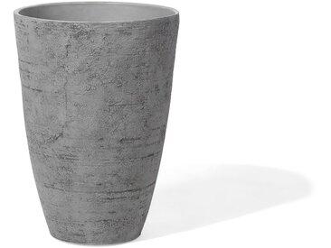 Cache-pot en pierre grise en forme de vase