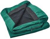 Housse amovible en velours vert pour canapé 2 places