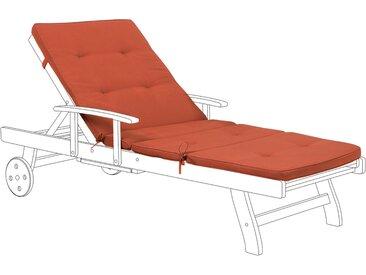 Coussin rouge résistant aux rayons UV pour chaise longue de jardin