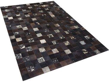 Tapis patchwork en peau 160 x 230 cm BANDIRMA