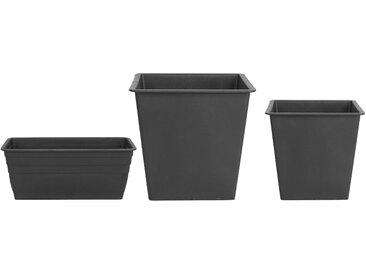 Set de 3 pots de fleur rectangulaires