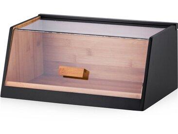Boîte à pain noire et bois foncé