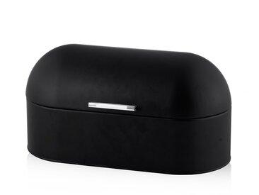Boîte à pain en métal noir