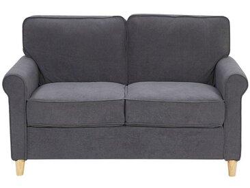 Canapé 2 places au style rétro tapissé en velours gris