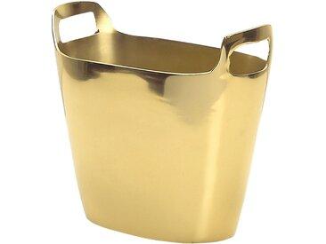 Seau à glaçons et champage moderne et glamour en aluminium doré