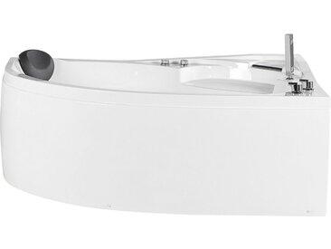 Baignoire balnéo d'angle côté gauche avec éclairage LED intégré