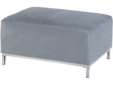 Pouf de type Ottoman en velours gris