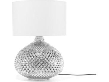 Lampe de table moderne en verre argenté