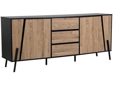 Commode à 3 tiroirs et 2 étagères au style industriel et minimaliste