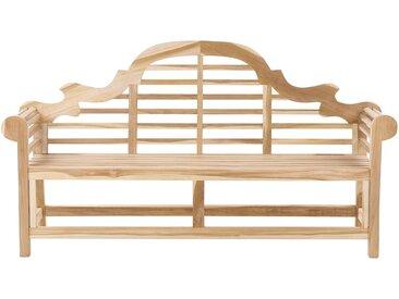 Banc de jardin ou terrasse 180 cm en bois de teck avec dossier décoratif