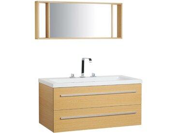 Meuble vasque à tiroirs avec miroir
