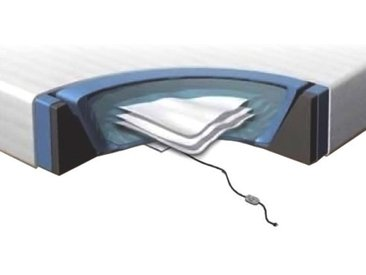 Matelas à eau 180 x 200 cm avec kit complet d'accessoires pour lit à eau