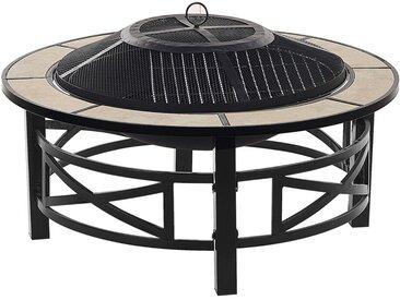 Braséro grill avec fonction barbecue élégant et fonctionnel