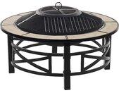 Brasero grill avec fonction barbecue élégant et fonctionnel